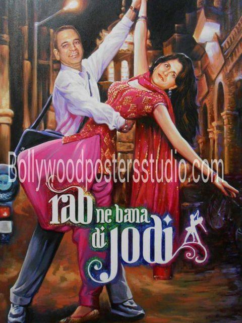Bollywood hindi movie themed wedding cards and decor
