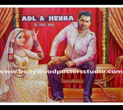 Bollywood themed wedding cards and party invitation