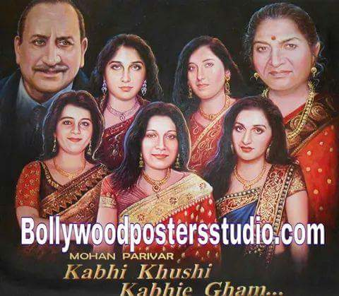 Customized family portrait into Bollywood poster online