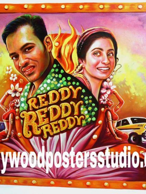 Hand drawn Bollywood posters