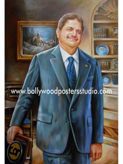 Custom oil hand painting portrait