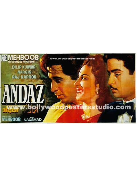 Andaz hand painted bollywood movie posters