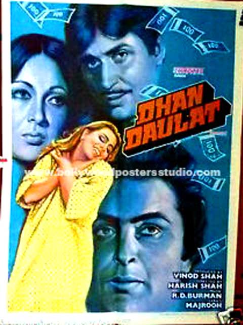 Dhan daulat hand painted posters