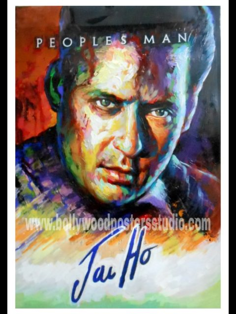 Hand painted film fan bollywood posters