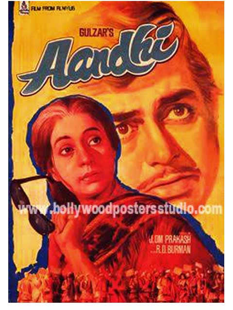 Hand painted bollywood movi posters Aandhi