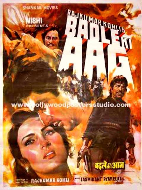 Hand painted bollywood movie posters Badle ki aag