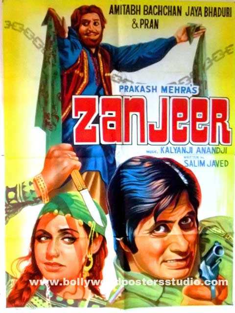 Hand painted bollywood movie posters Zanjeer