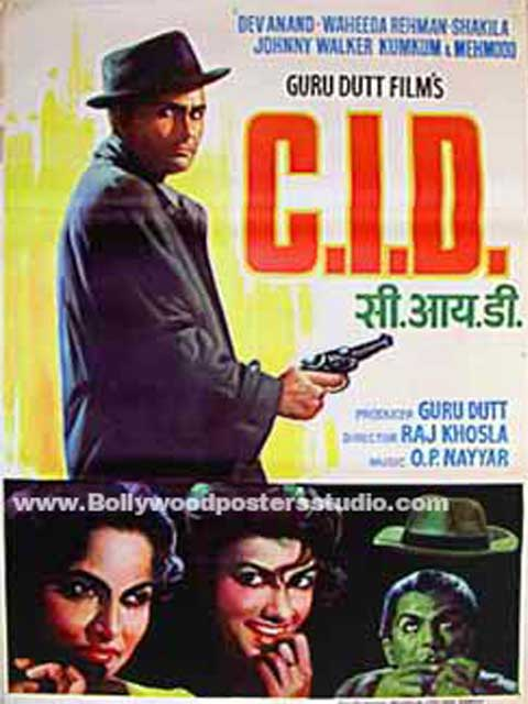 Hand painted bollywood movie posters C.I.D