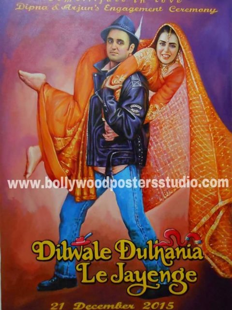 Customized bollywood style invitation cards and backdrop decoration for wedding and engagement