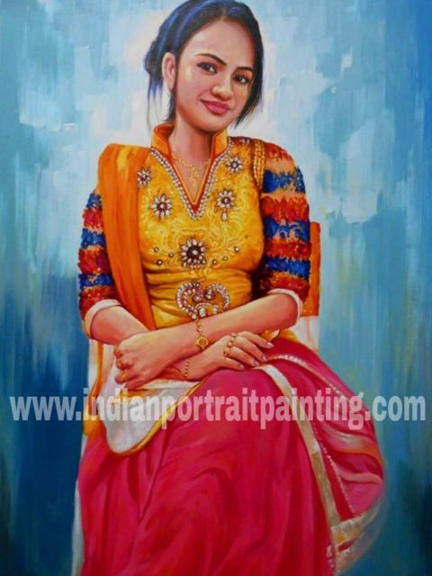 portrait paintings on canvas