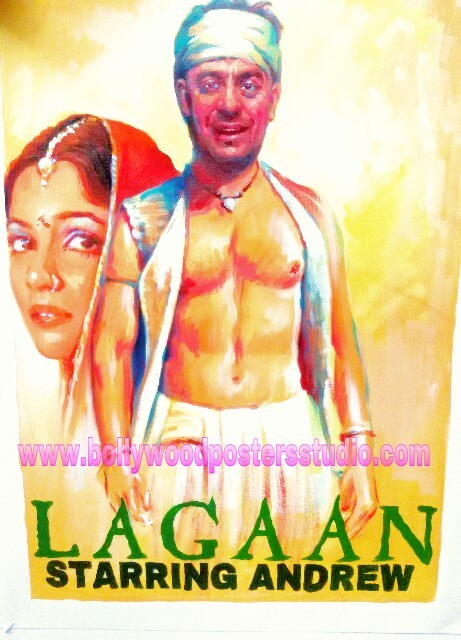 Creative customized bollywood movie posters hand painted