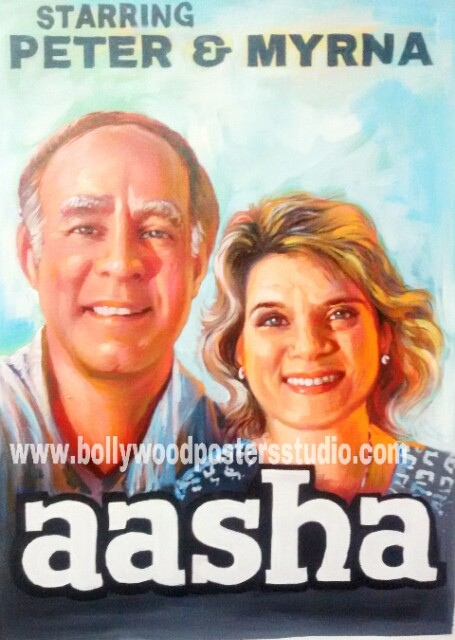 Custom bollywood poster painter art