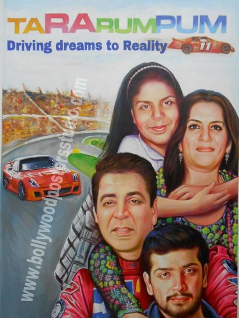 Customized posters for family in bollywood style