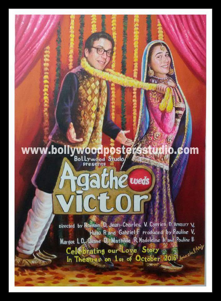 Custom bollywood posters arts