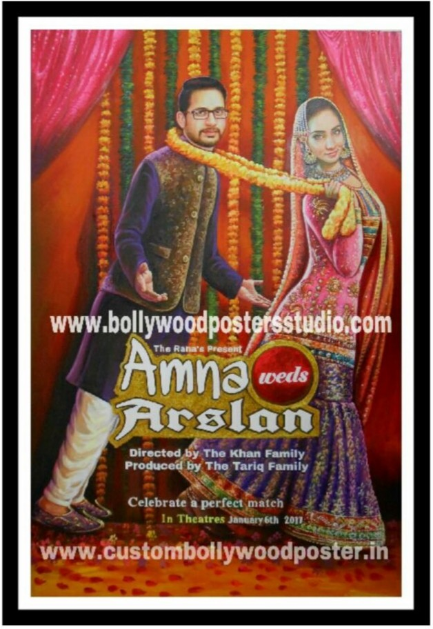 Customized wedding invitation posters maker
