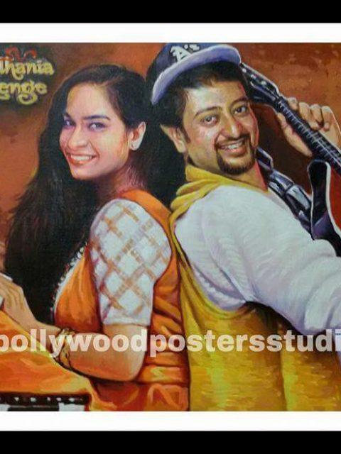 Custom bollywood poster DDLJ