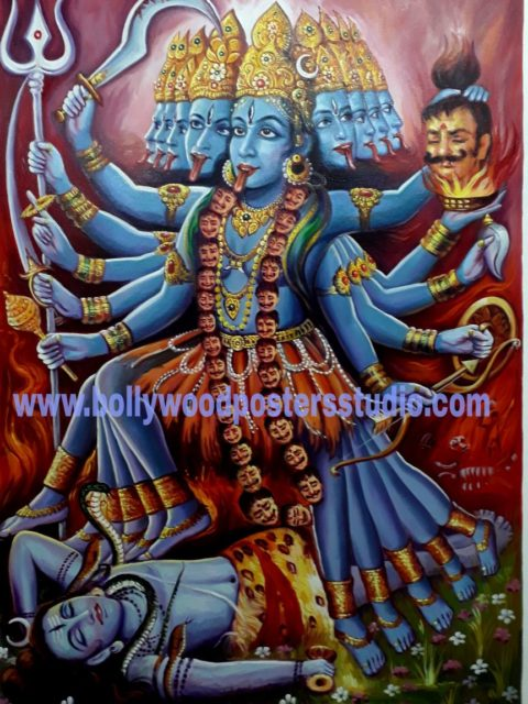Maha kali original portrait on canvas
