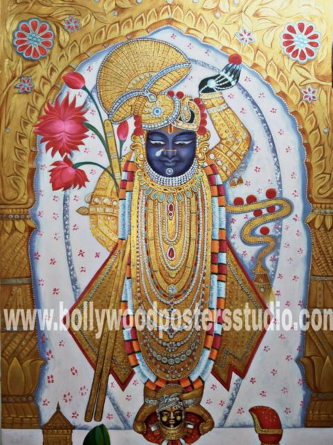 Hindu gods paintings - Shrinathji