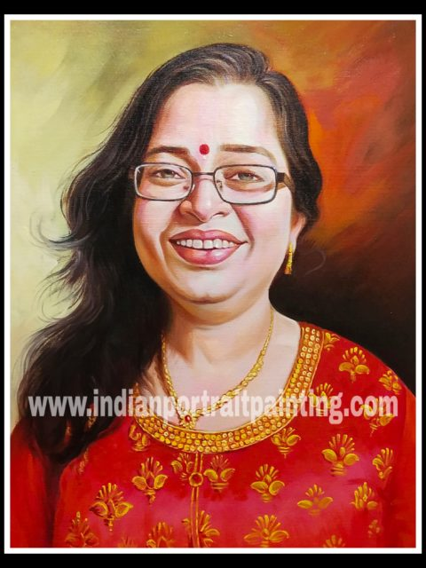 Portrait painting for gift