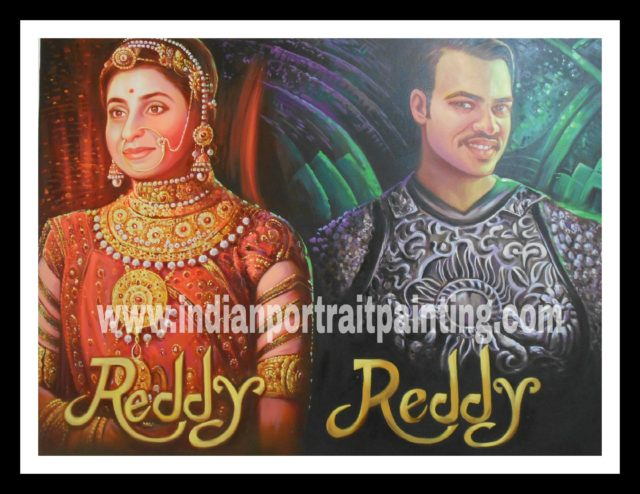 Customized Indian Bollywood style wedding themed posters