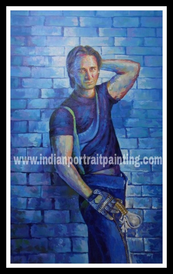 Customized banner hand painted portrait Bollywood poster online service