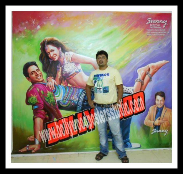 Hand painted Hindi movie billboard poster painter Mumbai
