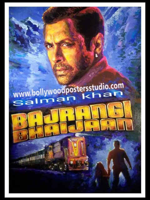 Hand painted success party Bollywood poster of Bajrangi Bhaijaan