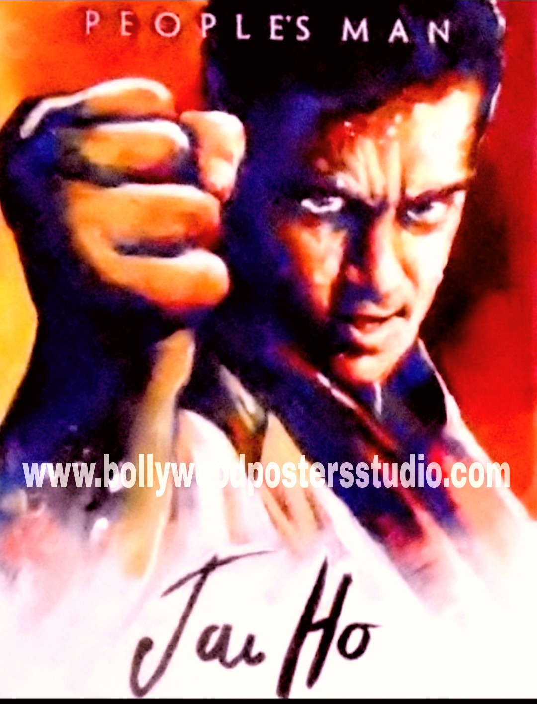 Hand painting Bollywood film fan poster artists Mumbai, India