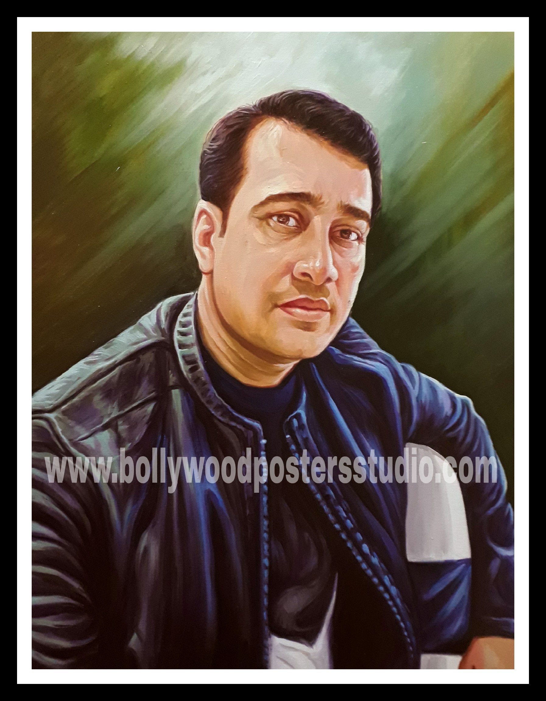 Hand painted oil portrait painting artist in India