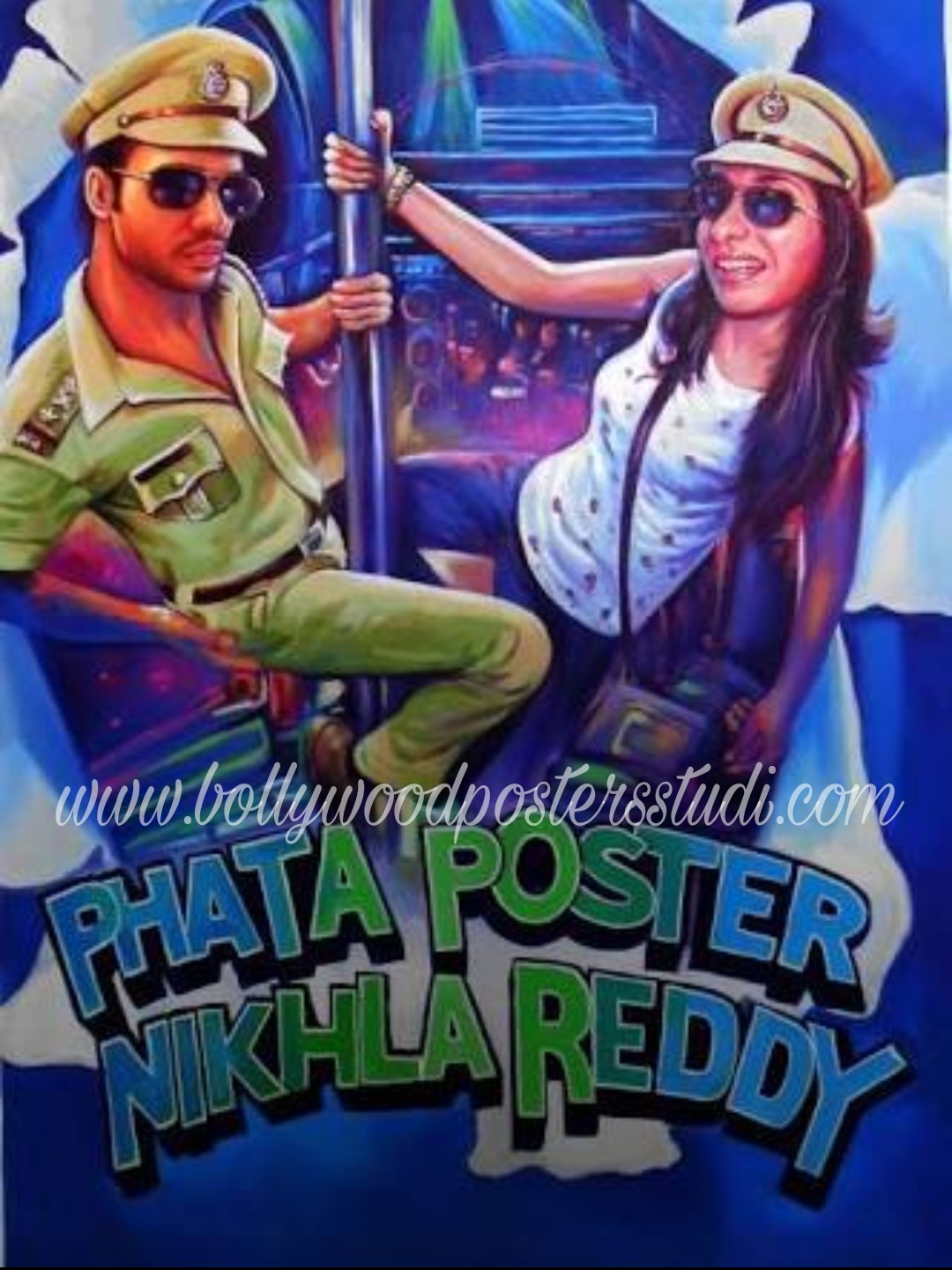 Transform photo to Bollywood poster