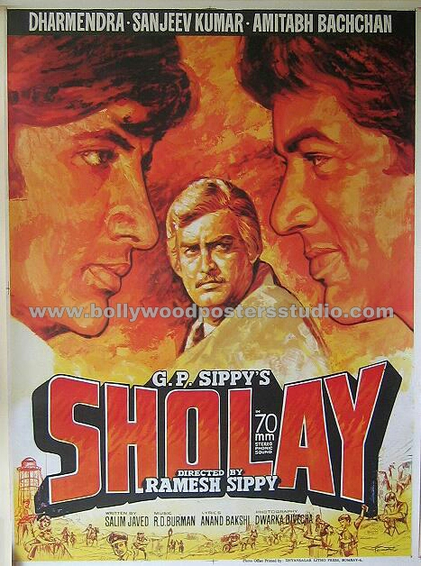 sholay hand painted