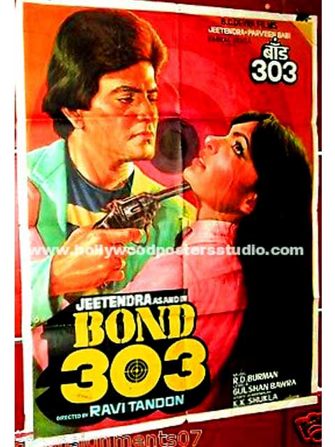 Bond 303 hand painted bollywood movie posters