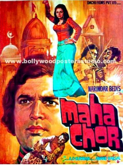 Maha chor hand painted posters
