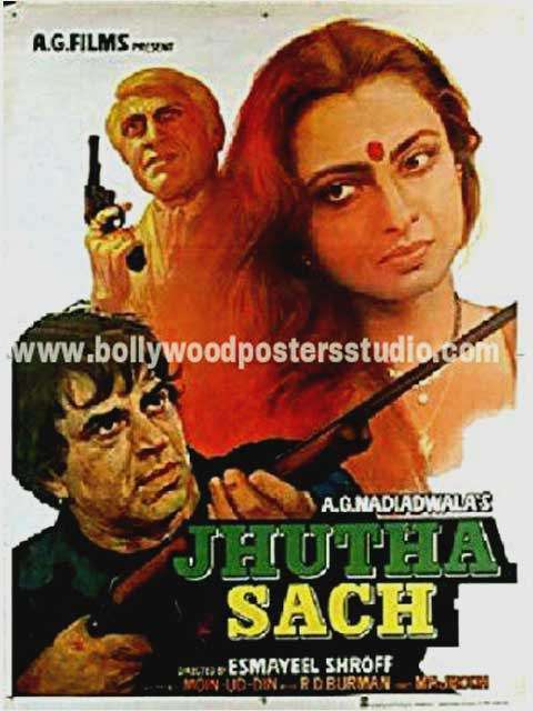 Jhutha sach hand painted posters