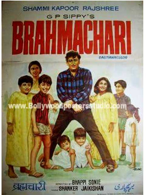 Hand painted bollywood movie posters Brahmachari