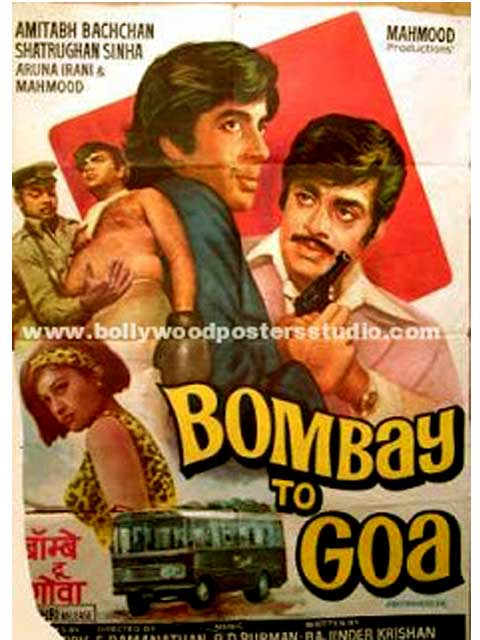 Hand painted bollywood movie posters Bombay to goa - Amitabh bachchan