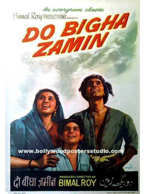Hand painted bollywood movie posters Do bigha zamin