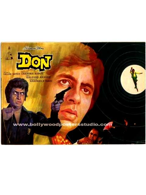 Hand painted indian movie posters Don - Amitabh bachchan