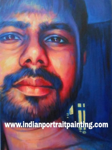 Hand painted custom portrait art gifts