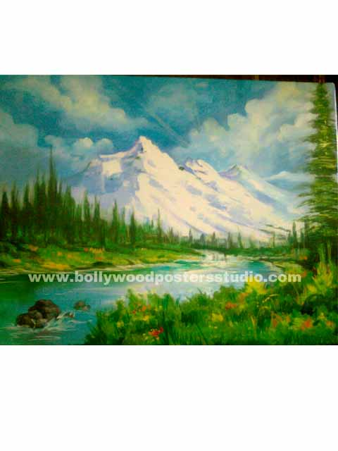 Landscape oil paintings on canvas