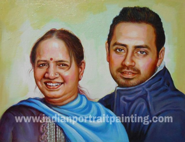 Canvas oil portrait paintings gift