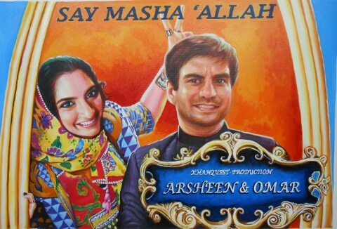 Customized bollywood wedding gift poster
