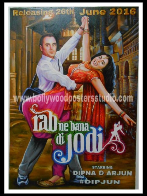 Custom Bollywood posters save the date invitation