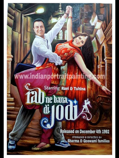 Bollywood style anniversary gifts custom poster