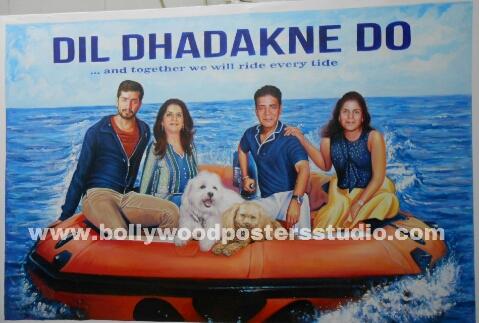 Custom Bollywood family poster