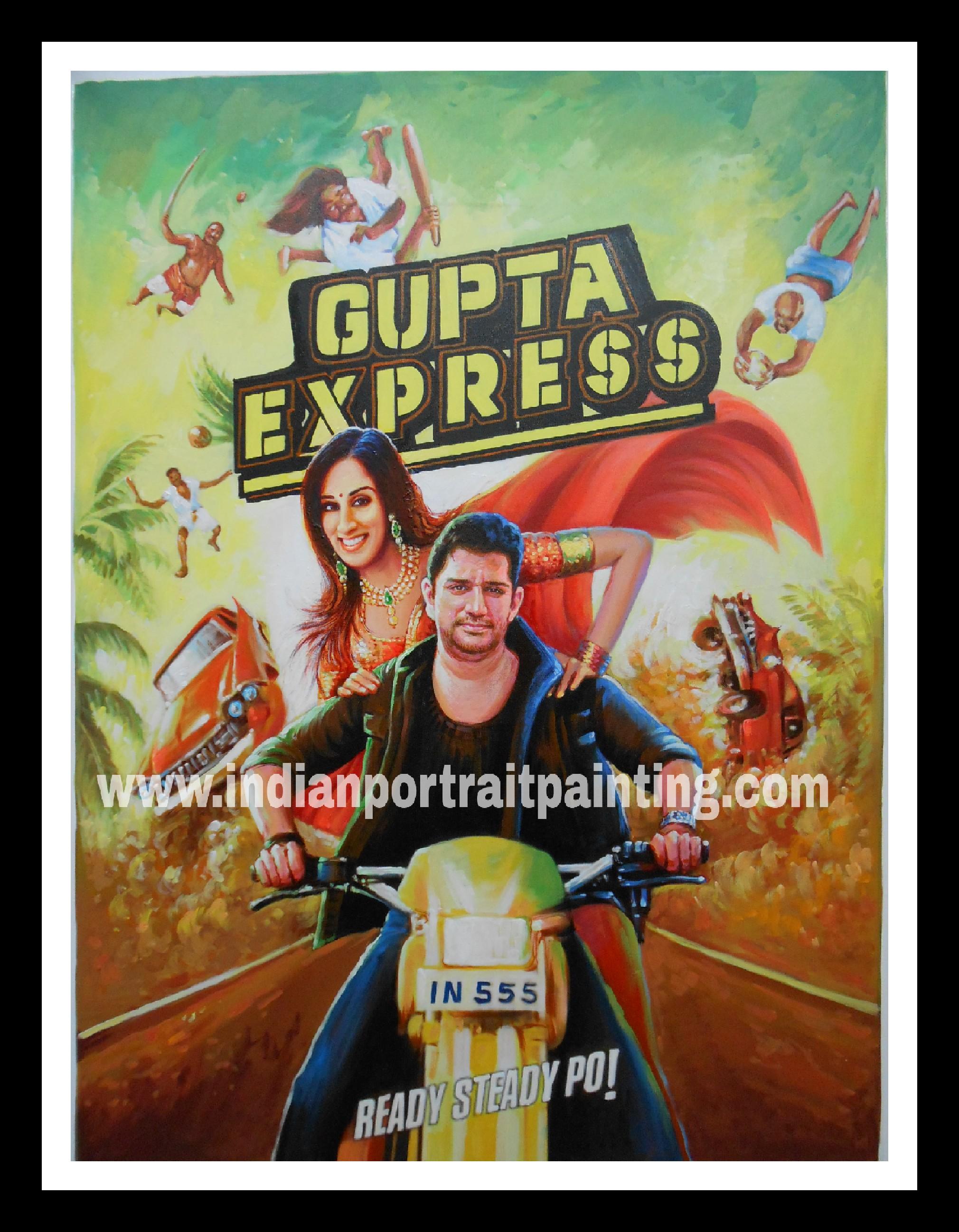 Bollywood style custom shaadi's poster