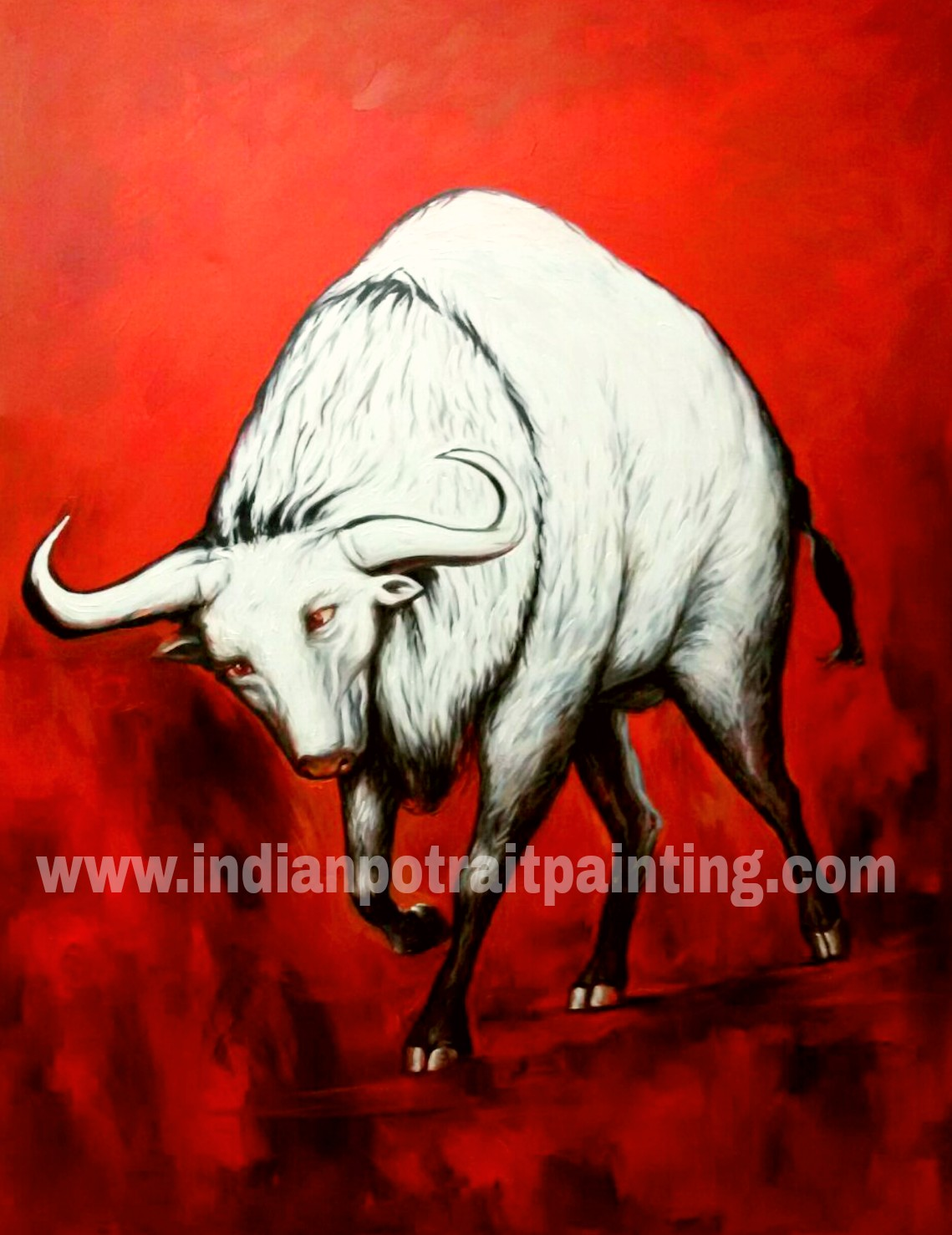 Hand painted art on oil canvas