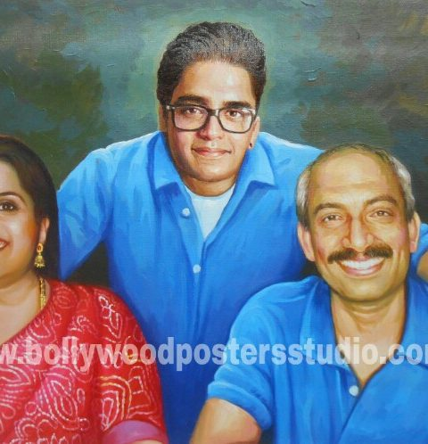 Realistic portrait paintings India mumbai