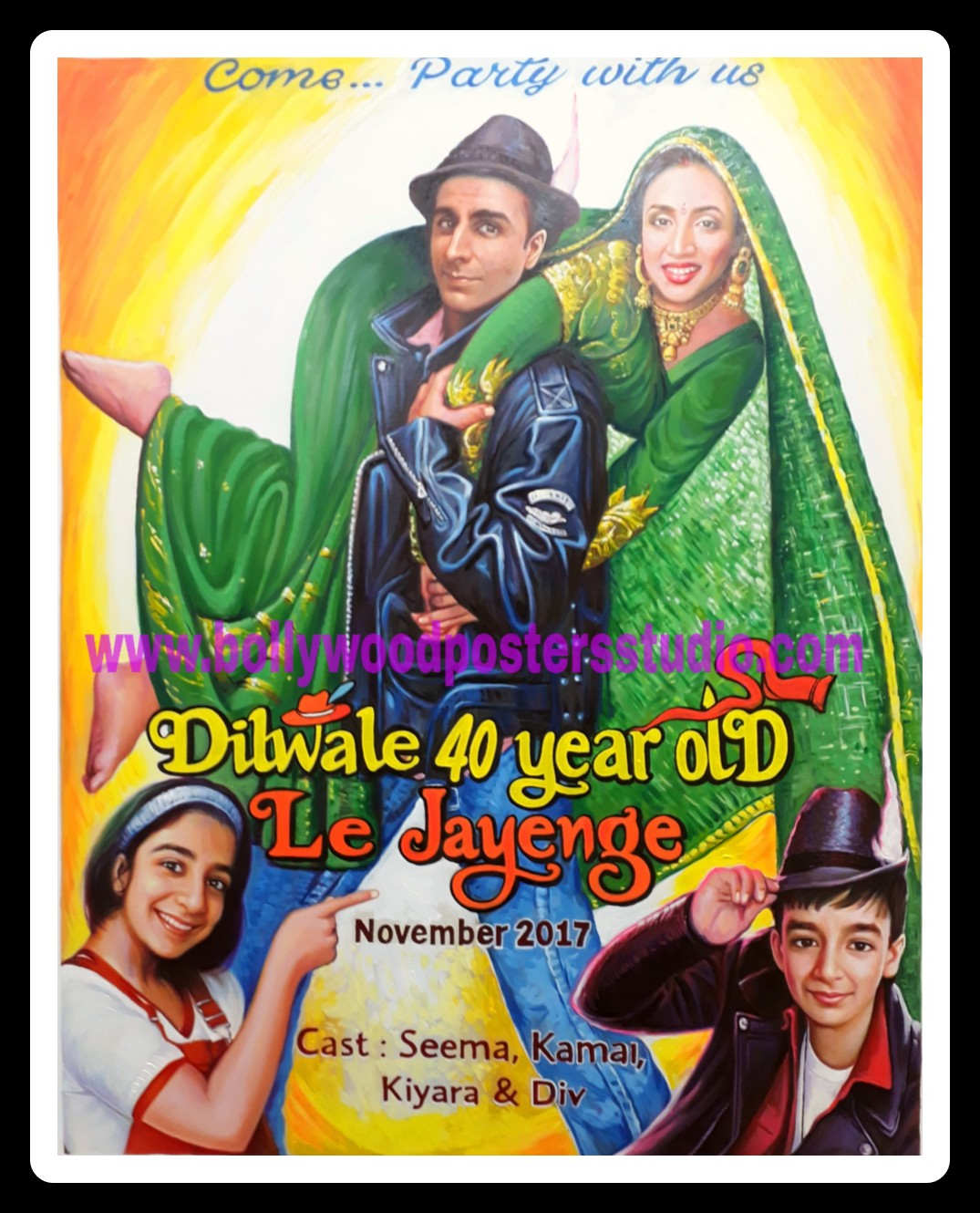 Make your own custom bollywood posters