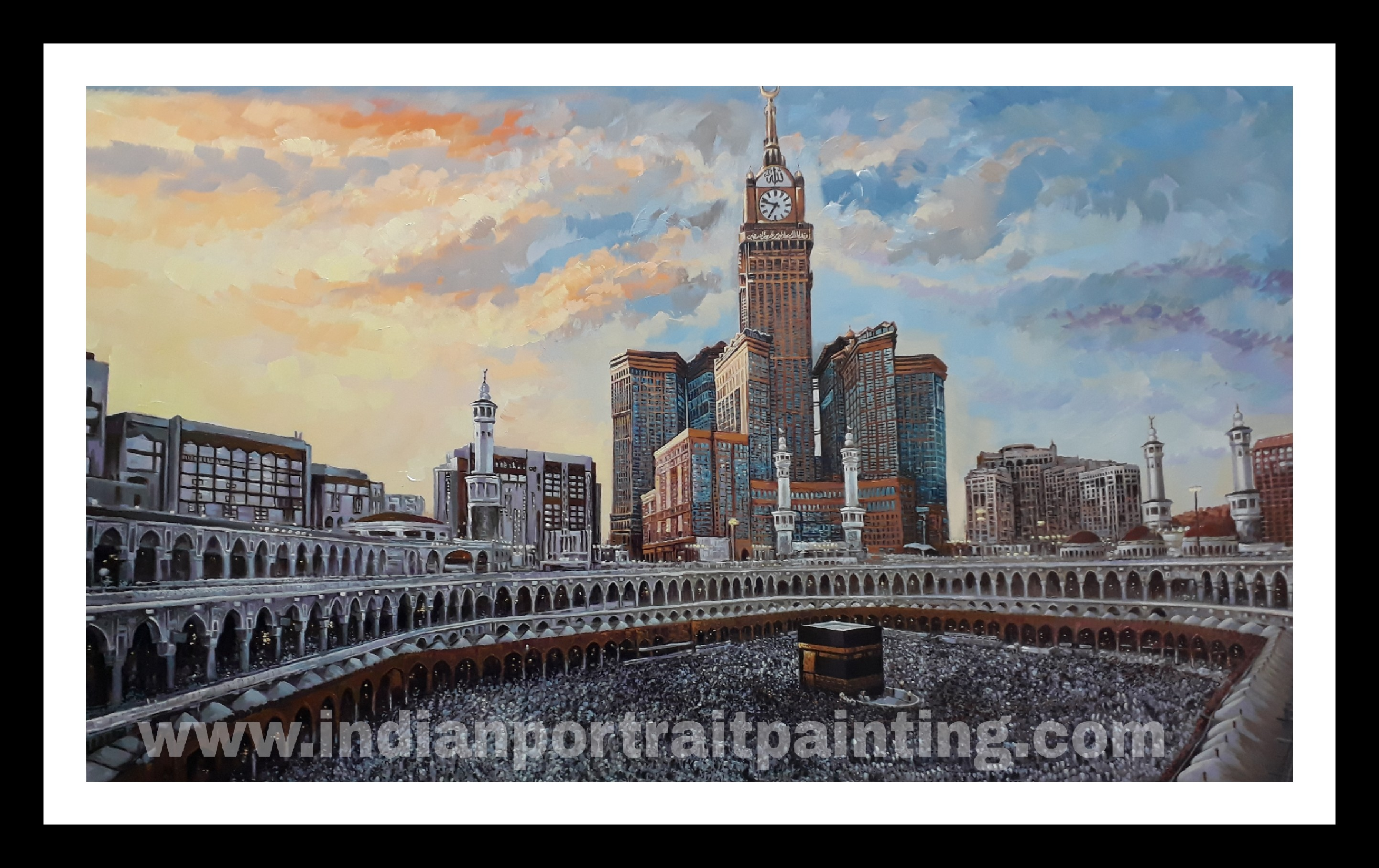 Mecca painting on oil canvas